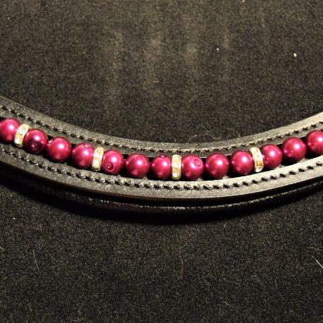 Purple pearls diamante spacer